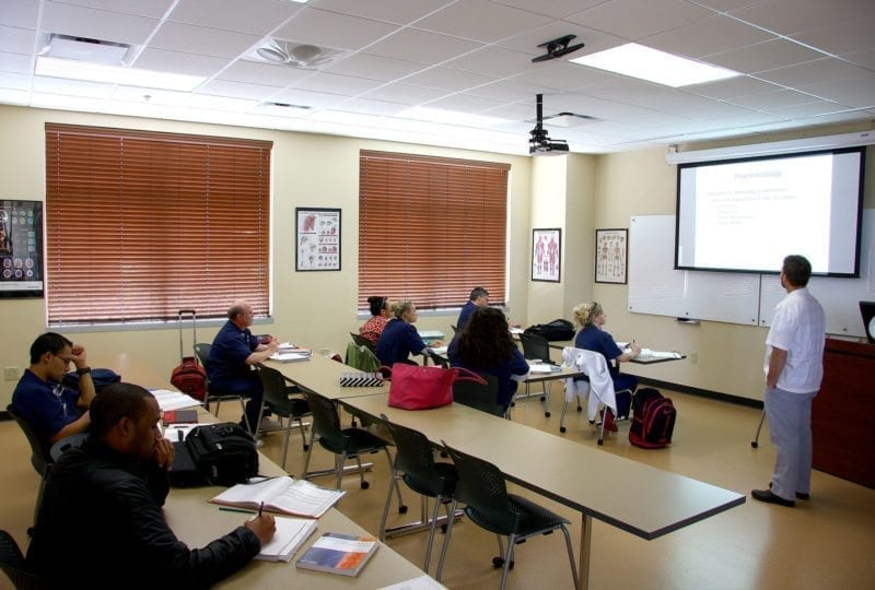 Classroom at South College in Asheville North Carolina
