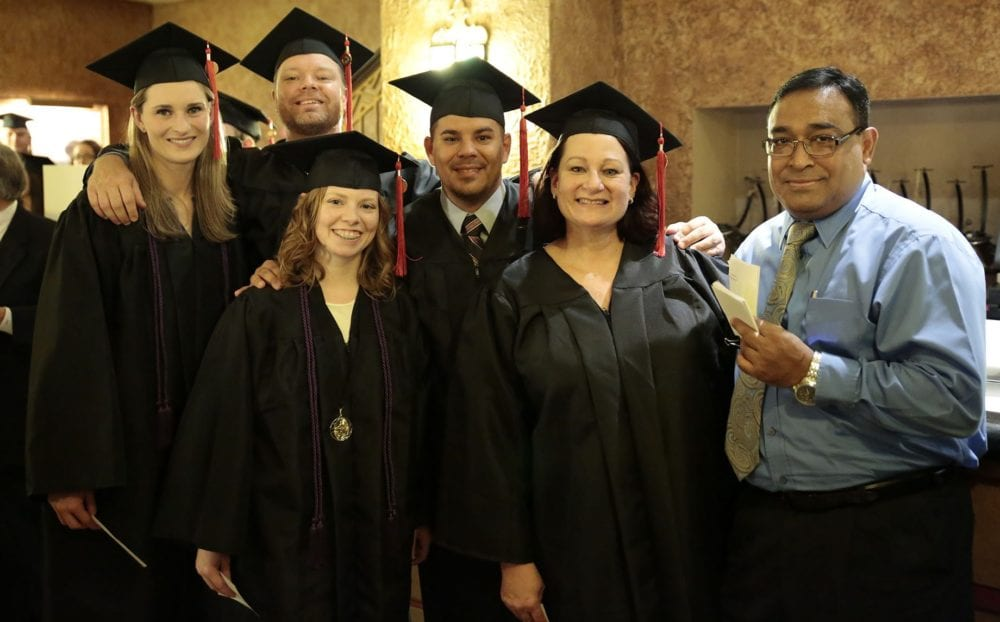 South College students at graduation.