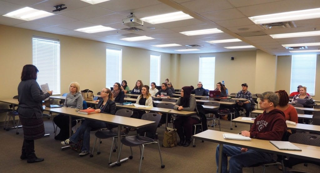 South College Students in a Classroom