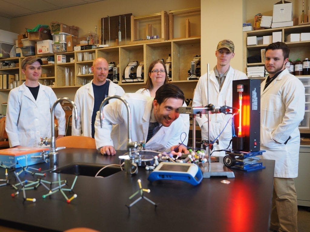 South College students in a lab.