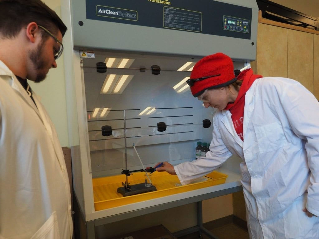 South College Students in a Lab