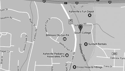 South College, Asheville Campus map