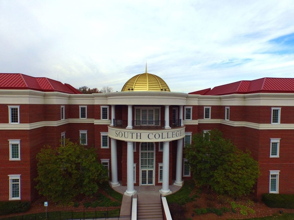 Main entrance to South College Knoxville's main campus.