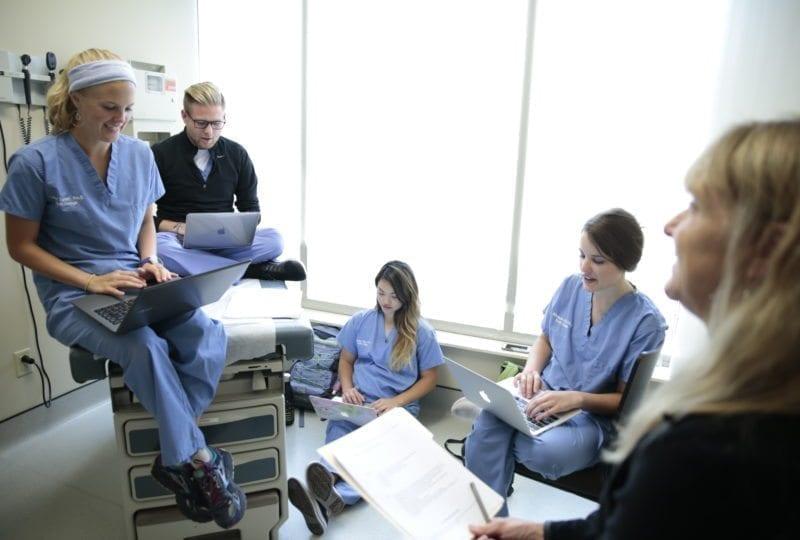 South College Atlanta nursing students in class