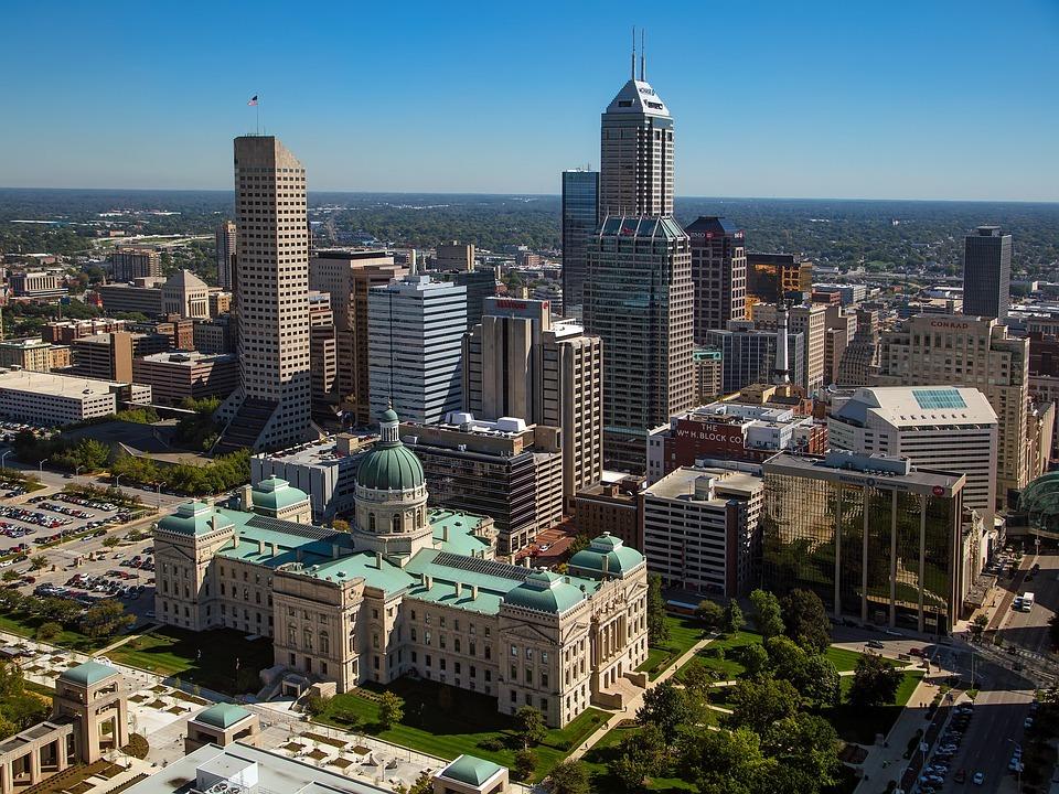 Indiana Indianapolis Skyline City Urban Cityscape